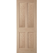 Jeld-Wen Oregon Solid 4 Panel Interior Door Oak Veneer 1981 x 686mm