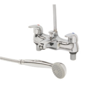 Swirl Dual Lever Bath Shower Mixer Chrome