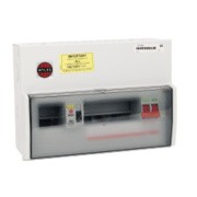 WYLEX 9-Way Metal Split Load Consumer Unit
