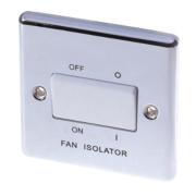 LAP 10AX 3-Pole Fan Isolator Switch Polished Chrome