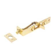 Flush Door Bolt Polished Brass 100mm