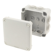 7-Entry Junction Box with Knockouts Grey 105 x 105 x 55mm