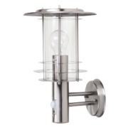 Wall Light with PIR 230 x 210 x 340mm Stainless Steel 60 W