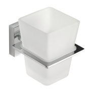 Croydex Cheadle Flexi-Fix Tumbler & Holder Chrome 81 x 102 x 98mm