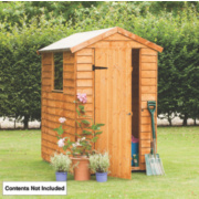 Forest Larchlap Premium Overlap Apex Shed 4 x 6 x 7' (Nominal)