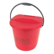 Plastic Fire Bucket & Lid 10Ltr