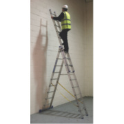 Sky Master 41099 Aluminium Combination Ladder 3 x 9 Rungs 6.7m
