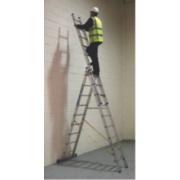 Sky Master 41099 Aluminium Combination Ladder 3 x 9 Rungs 6.7m