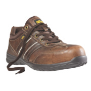 Site Rubble Safety Trainers Brown Size 7