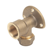 Wall Plate Elbow 15mm x ½
