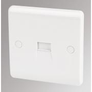 LAP 1-Gang Master Telephone Socket White
