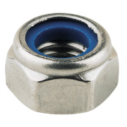 Nylon Lock Nuts A4 Stainless Steel M6 Pack of 100