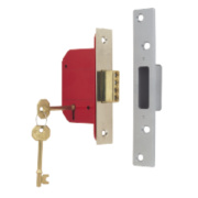 ERA 5-Lever Mortice Deadlock Satin Nickel