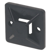 2-Way Adhesive Base Black 19 x 19mm Pack of 100