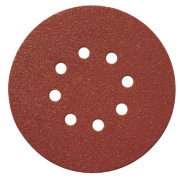 Titan Sanding Disc D-Weight 150mm 8-Hole Punched Velcro 120 Grit Pack of 10