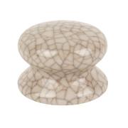 Traditional Cabinet Door Knobs Porcelain Crackled Cream 50mm Pack of 2