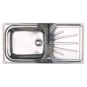 Astracast Korona Kitchen Sink 1 Bowl & Reversible Drainer 1000 x 220mm