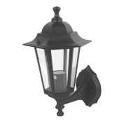 Coach Lantern Wall Light Black 60 W