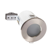 Robus Fixed Round Low Volt Fire Rated Downlight Brushed Chrome 12V