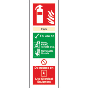 Foam Extinguisher ID Signs 280 x 90mm Pack of 100