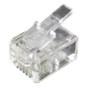 Philex RJ11 6P4C Connectors Pack of 100
