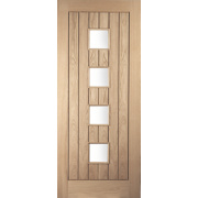 Jeld-Wen Whitehall 4-Light Glazed Exterior Door Oak Veneer 838 x 1981mm