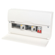 10-Way High Integrity Metal Consumer Unit Dual 63A RCD & 100A Switch