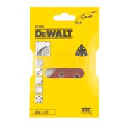 DeWalt 93 x 93mm 80 Grit Detail Sander Sheet Pack of 10