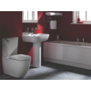 St Ives Contemporary Bathroom Suite with Twin Ended Bath
