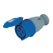 200-250V MK Commando Interlocked Straight Socket 3P+E (IP44)