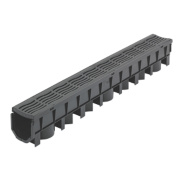 FloPlast FloDrain Channel Drain & Grate Black 1010mm x 115mm