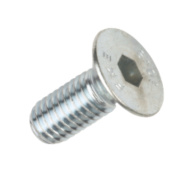 BZP Countersunk Head Socket Screws M6 x 20mm Pack of 50