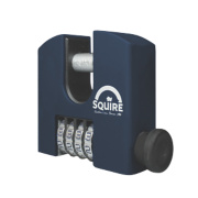 Squire Brass 4-Wheel Combination Padlock Black 65mm