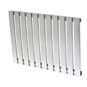 Reina Calix Horizontal Designer Radiator Stainless Steel 600x810mm 2027BTU