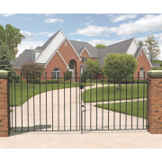 Metpost Wenlock Double Gate Black 1425 x 900mm