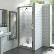 Pivot Shower Door Polished Silver 880mm