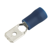 Insulated Crimp Blue Male Push-On 6.3mm Pack of 100
