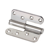 Lift-Off Hinge Left Hand Polished Stainless Steel 102 x 89mm Pack of 2