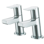 Bristan Pisa Basin Pillar Bathroom Taps Pair