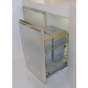 Hafele Pull-Out Waste Bin System Chrome / Grey