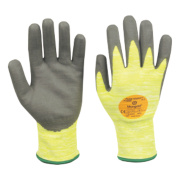 Marigold Industrial Puretough P3000 Cut 3 PU/Nitrile Gloves Grey/Yellow Lge