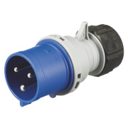 MK Commando Interlocked Straight Plug 32A 2P+E 200-250V (IP44)