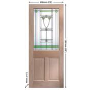 Jeld-Wen Abington Single-Light Glazed Exterior Door Oak Veneer 838 x 1981mm
