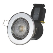Robus Fire Rated Fixed LED Downlight IP20 Chrome W