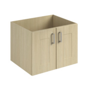 600mm Vanity Shaker Double Base Unit Oak Oak