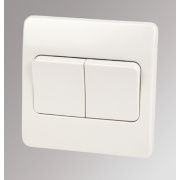 MK Logic Plus 2-Gang 2-Way 10AX Light Switch with Wide Rocker White