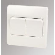 MK Logic Plus 2-Gang 2-Way 10AX Light Switch with Wide Rocker White