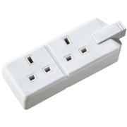 Masterplug Heavy Duty 13A 2-Gang Double Pole Rewireable Socket White