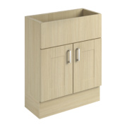 600mm Vanity Shaker Wall Unit Oak Oak