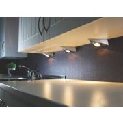 21235 Triangular Cabinet Downlight Brushed Chrome Pack of 3